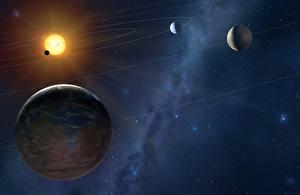 Картинка Планеты Звезды Космос 3D_Графика