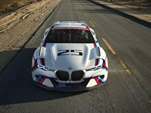 Обои BMW Дороги Белый Спереди 2015 CSL Hommage R Автомобили