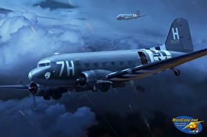 Обои Самолеты Рисованные C-47 'Chalk 40' on D-Day Авиация фото
