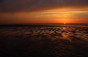 Фото Рассветы и закаты Море Горизонт Природа