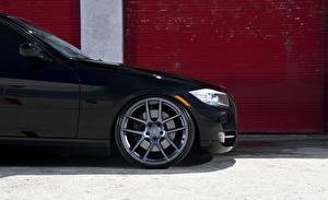 Обои BMW Черный Колесо E90 Автомобили