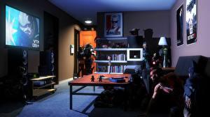 Фотография Mass Effect Far Cry Комната Фан АРТ vaas crossover garrus vakarian batman iron man starcraft nova terra raiden Metal Gear Rising: Revengeanc 3D Графика Фэнтези Игры