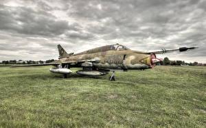Обои Самолеты Старый Трава mig II Авиация фото