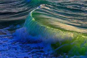 Фотографии Море Волны Вода Природа