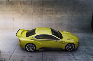 Обои BMW Желтый Сбоку 3.0 CSL Hommage Автомобили фото
