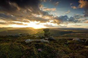 Фото Рассветы и закаты Камень Пейзаж Небо Облака Природа