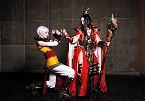 Фотография Diablo С посохом Платья Monk Wizard Игры Фэнтези Девушки