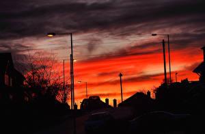 Фотография Рассветы и закаты Небо Силуэт Города