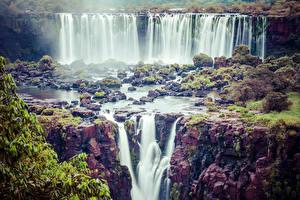 Фото Водопады Камни Скала Природа