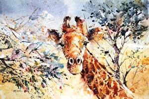 Фото Жирафы Рисованные