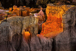 Обои Штаты Парк Гора Скале Bryce Canyon National Park Utah Природа