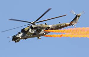 Обои Вертолеты Mil Mi-24V Авиация фото