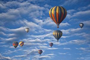 Обои Небо Воздушный шар Облака Природа Спорт Авиация фото