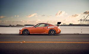 Фотография Toyota Небо Дороги Сбоку Оранжевый Scion fr-s Автомобили