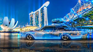 Обои Lincoln Тюнинг Винтаж Сбоку Tony Kokhan Continental Crystal Neon Multicolors  el Tony Cars Design Art город Автомобили