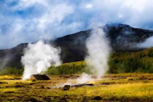 Обои для рабочего стола Исландия Пейзаж Горы Природа