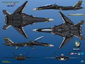 Фотографии Самолеты Истребители F/A-25C Archer Авиация