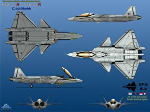 Картинка Самолеты Истребители KFX / IFX-01 (C203) 6-View International Color Авиация