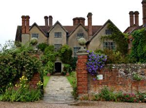 Фотография Великобритания Дома Вербена Лютик Ограда Packwood House Города