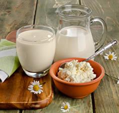 Фотографии Напитки Молоко Сыры Стакана Кувшины Пища