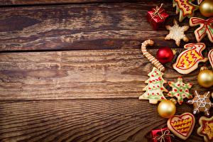Картинка Рождество Печенье Доски Шарики Подарки