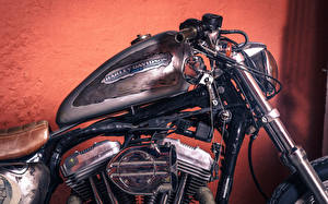 Фотографии Xарлей дэвидсон Крупным планом chopper vintage