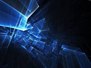 Фотографии Абстракции Синий
