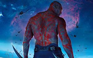 Картинки Стражи Галактики Мужчины Спина Drax the Destroyer Фильмы Фэнтези