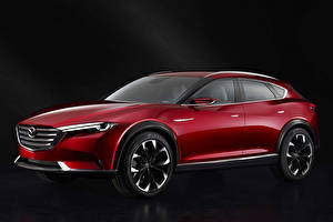 Картинки Mazda Темно красный Металлик Сбоку 2015 Mazda Koeru машины