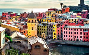 Обои Италия Море Дома Города фото