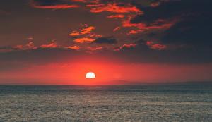 Обои Рассветы и закаты Море Горизонт Солнце Природа