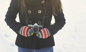 Фотографии Зимние Фотокамера Фотограф mittens