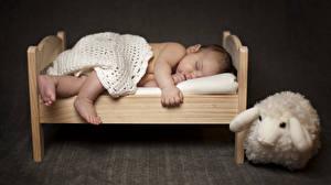 Фото Игрушка Младенца Кровать Спят Дети