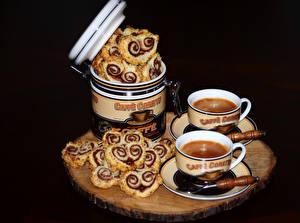 Фото Выпечка Кофе Булочки Чашка Две Пища