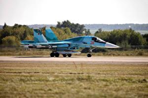 Обои Истребители Самолеты Су-34 Авиация фото