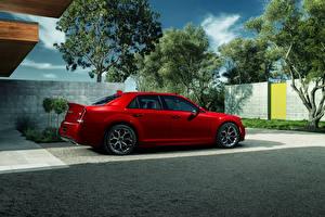 Фотографии Chrysler Красные Металлик 2015 Chrysler 300 S машина