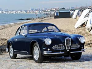 Картинка Альфа ромео Винтаж Синих Металлик 1951–54 1900 Sprint (1484) дизайн Touring машина