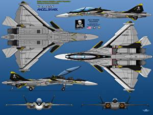 Обои Самолеты Истребители Рисованные F/A-45N Angel Shark Авиация фото