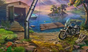 Обои Живопись Мотоциклы фото