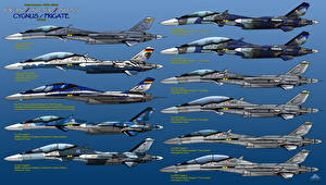 Обои Самолеты Истребители Рисованные IFX Project  IFX-35 Cygnus, Su-53, Su-55 Авиация фото