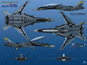 Обои Самолеты Истребители Рисованные IFX-25S Mark-III Silent Archer Bone Arrow One Авиация фото
