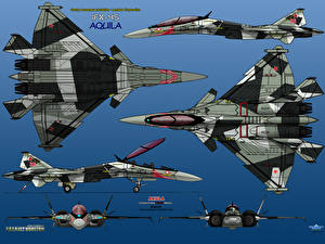 Обои Самолеты Истребители Рисованные IFX-45 Aquila AKULA Авиация фото