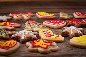 Обои Новый год Праздники Печенье Крупным планом