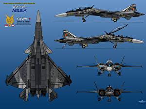 Обои Самолеты Истребители Рисованные IFX-45 Aquila 5 View Gear Down Авиация фото
