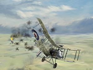 Обои Самолеты Рисованные Fatal damage Авиация фото