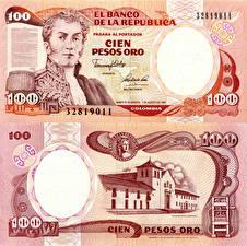 Фотография Деньги Купюры Колумбия 100 pesos