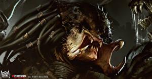 Обои Монстр Хищник alien vs predator avp art Игры Фэнтези