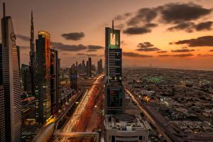 Картинки ОАЭ Дубай Небоскребы Мегаполис Города