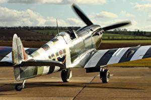 Обои Самолеты Истребители Supermarine Spitfire Mk. XIV Авиация фото