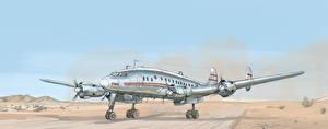 Обои Самолеты Рисованные TWA Constellation Авиация фото